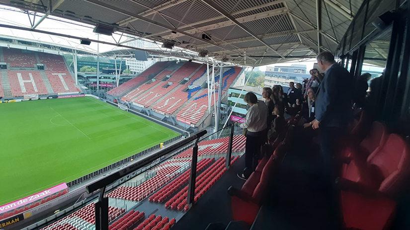 Een indrukwekkend uitzicht vanuit de skybox van FC Utrecht.