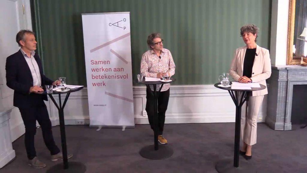 Ruud van der Aa, Frénk van der Linden en Marjolein ten Hoonte in gesprek over de arbeidsmarkt na de coronacrisis