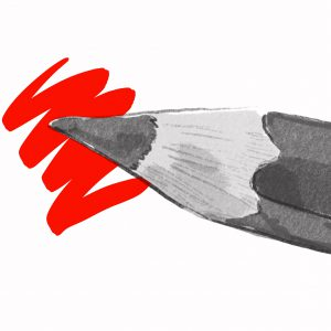 Potlood die de verkiezingen symboliseert