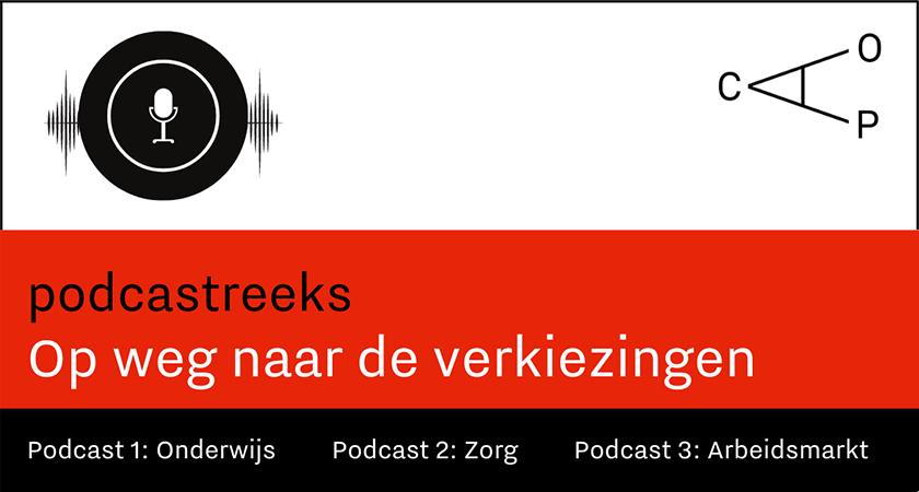 Logo Podcastreeks: Opwegnaar de verkiezingen
